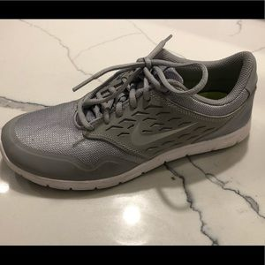 Nike White and Grey Walking Sneakers size 8